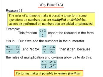Algebra 1: 120 What Is Factoring?