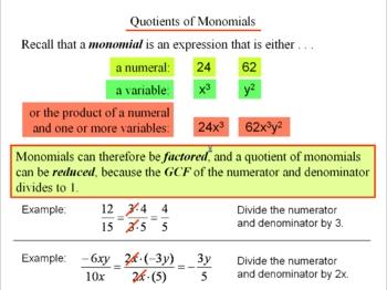 Algebra 1: 130 Factoring Monomials