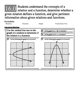 Algebra 1 (1.X): Unit 1- Expressions, Equations, and Functions- Assessments
