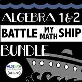 Algebra 1 & 2 Activities BUNDLE - Battle My Math Ship