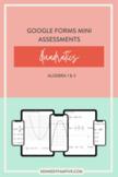 Algebra 1 & 2 Quadratics Assessments Bundle