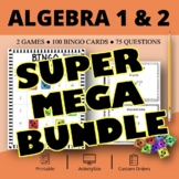 Algebra SUPER MEGA BUNDLE: Math Bingo Review Games