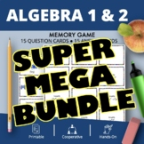 Algebra Super Mega BUNDLE: Math Memory Games