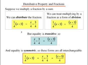 Algebra 1: 240 Adding and Subtracting Fractions