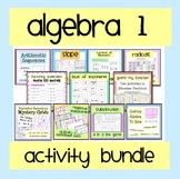 Algebra 1 Worksheet & Activity Bundle