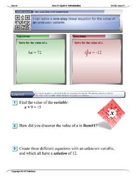 Algebra 1 (2.Y): Unit 2- Simplifying and Solving Equations. Whole Unit Bundle