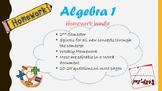 Algebra 1 2nd semester Homework bundle