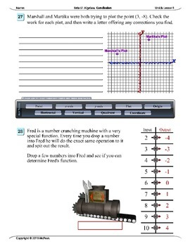 Algebra 1 (3.01): Plotting Points on a Coordinate Plane