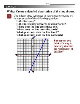 Algebra 1 (3.05) DRAFT: Finding the x- and y-Intercepts and Slope of Equations