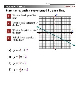 Algebra 1 (3.06) DRAFT: Finding the Equation of a Line on a Graph