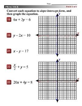 Algebra 1 (3.07) DRAFT: Converting Linear Equations to Slope-Intercept Form