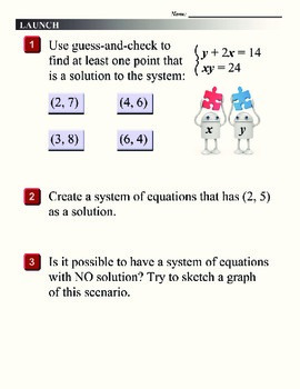 Algebra 1 (4.06) DRAFT: Manipulating Equations to Solve Systems by Substitution