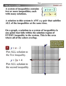 Algebra 1 (5.07) DRAFT: Plot All Solutions to a System of Inequalities