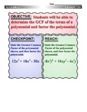 Algebra 1 (7.01) DRAFT: Use the GCF to Factor Polynomials