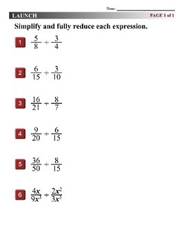 Algebra 1 (7.09) DRAFT: Divide Polynomial Fractions
