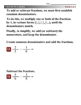 Algebra 1 (7.10) DRAFT: Operations with Polynomial Fractions