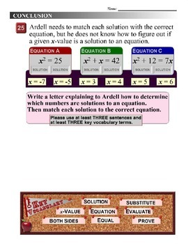 Algebra 1 (8.01) DRAFT: Solve Quadratic Equations by Guess-and-Check
