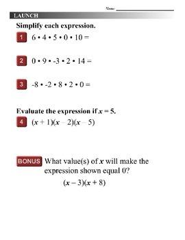 Algebra 1 (8.02) DRAFT: Solve Quadratic Equations by Factoring