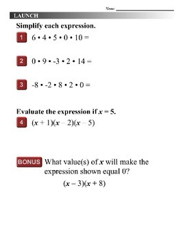 Algebra 1 (8.02) DRAFT: Solve Quadratic Equations by Factoring
