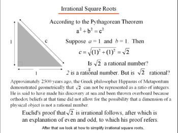 Algebra 1: 820 Irrational Square Roots