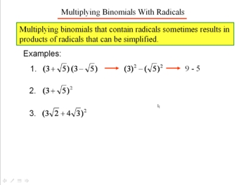 Algebra 1: 830 Arithmetic With Radicals