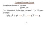 Algebra 1: 860 Fractional Exponents