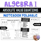 Algebra 1 - Absolute Value Simplifying and Solving Equations Foldable