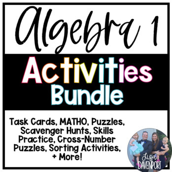Algebra 1 Activities BUNDLE