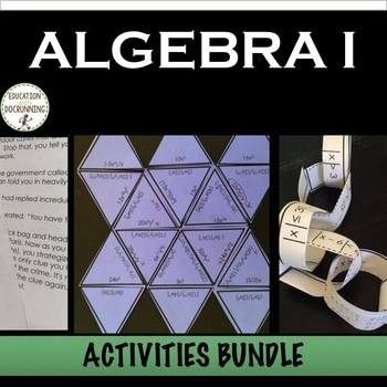 Algebra 1 Activities Bundle for centers and more (SAVE 30%+)