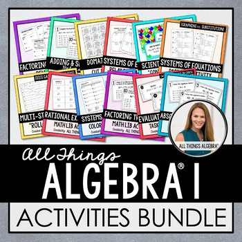 Algebra 1 Curriculum: Activities Bundle
