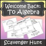 Algebra 1 Activity {Algebra 1 Beginning of the Year Activity}