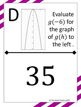 Algebra 1 Activity Bundle #1