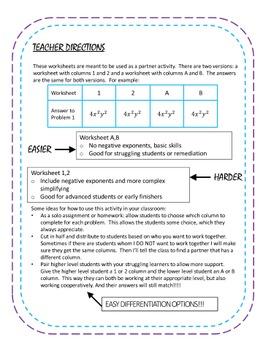 Algebra 1 Activity Bundle #2