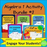 Algebra 1 Activity Bundle #3
