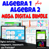 Algebra 1  Algebra 2 Mega Digital Combo Bundle plus Printables