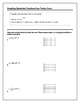 Algebra Tutorial & Worksheets: Graphing Quadratics from Vertex Form