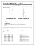 Algebra Tutorial & Worksheets: Graphing Quadratics from Ve