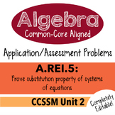 Algebra 1 Assessment A.REI.5 - Prove Systems Replacement P
