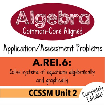 Algebra 1 Assessment A.REI.6 - Solve Linear Systems Graphically CCSSM Unit 2