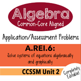 Algebra 1 Assessment A.REI.6 - Solve Linear Systems Graphi