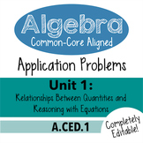 Algebra 1 Assessment A.CED.1 - Creating Linear & Exp. Expr