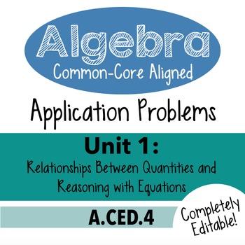 Algebra 1 Assessment A.CED.4 - Rearrange Linear Formulas C
