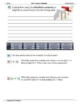 Algebra 1 (2.03): Applying the Distributive Property