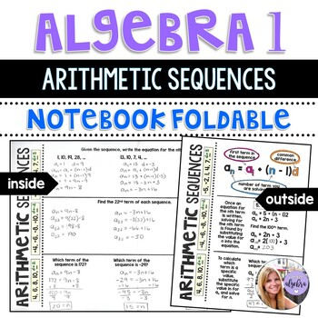 Algebra 1 - Arithmetic Sequences as Linear Functions Foldable