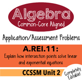 Algebra 1 Assessment A.REI.11 - Solve Equations Graphicall