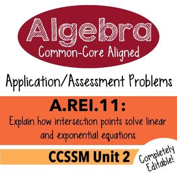 Algebra 1 Assessment A.REI.11 - Solve Equations Graphicall
