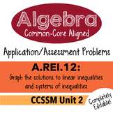 Algebra 1 Assessment A.REI.12 - Graph Linear Inequalities