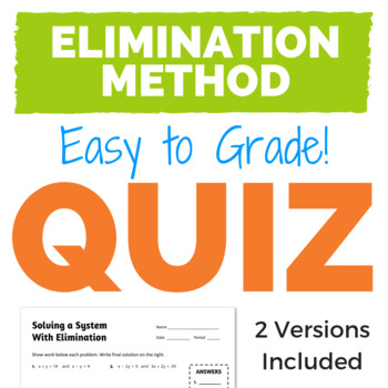 Solving a System with Elimination Quiz