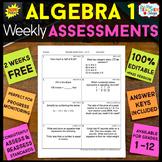 Algebra 1 Assessments Algebra 1 Quizzes {Spiral Review} FREE
