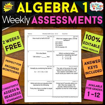Algebra 1 Assessments | Algebra 1 Quizzes
